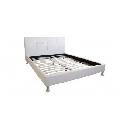 Lit grace 180x200 simili cuir blanc achat vente lit complet lit grace 180 - Lit simili cuir blanc ...