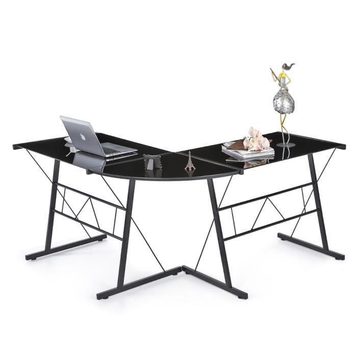 bureau informatique d 39 angle mod le l noir achat vente bureau bureau informatique d 39 angle. Black Bedroom Furniture Sets. Home Design Ideas