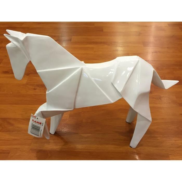 cheval origami kare achat vente objet d coratif soldes d hiver d s le 11 janvier cdiscount. Black Bedroom Furniture Sets. Home Design Ideas