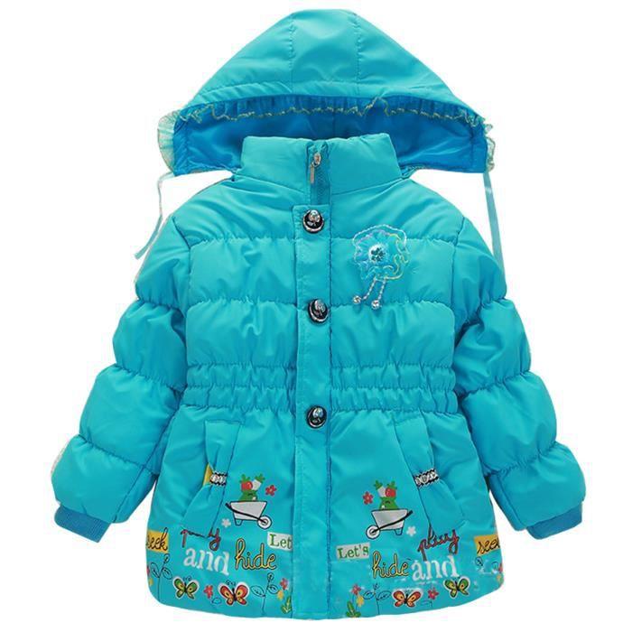 hiver automne mode manteau polaire enfant fille bleu achat vente manteau caban soldes. Black Bedroom Furniture Sets. Home Design Ideas