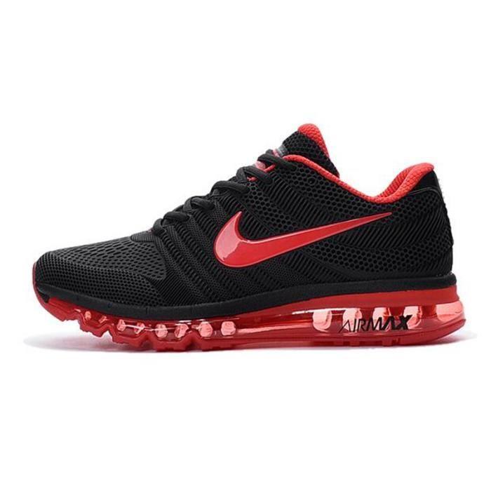 nike air max 2017 baskets chaussures de sport noir rouge noir noir rouge achat vente. Black Bedroom Furniture Sets. Home Design Ideas