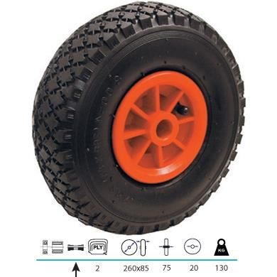 roue de diable 260x85 axe de 20 mm achat vente roue roulette soldes d t cdiscount. Black Bedroom Furniture Sets. Home Design Ideas