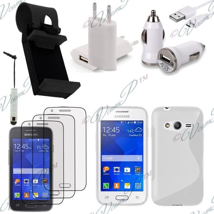 Pour samsung galaxy trend 2 lite sm g318h blanc lot etui housse coque pochette accessoires - Accessoires samsung galaxy trend lite ...