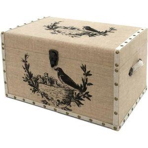 malle rangement bois achat vente malle rangement bois pas cher cdiscount. Black Bedroom Furniture Sets. Home Design Ideas