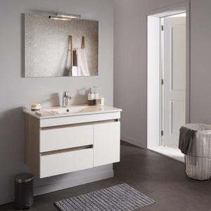 ARMOIRE DE TOILETTE Meuble de salle de bain décor chêne avec miroir éc