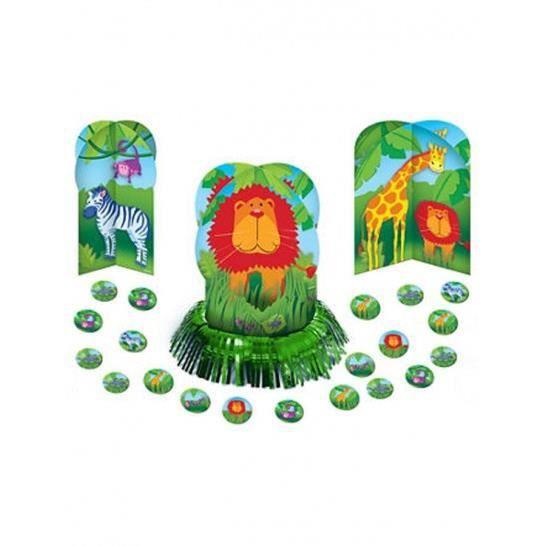 set d 233 corations de table animaux de la jungle achat vente kit de decoration cdiscount