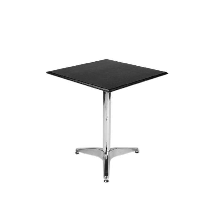 Table d 39 appoint bistrot en cuir synth tique noir hauteur Table d appoint reglable en hauteur