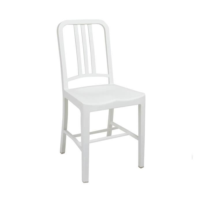 Chaise industrielle blanche achat vente chaise blanc for Soldes chaises blanches