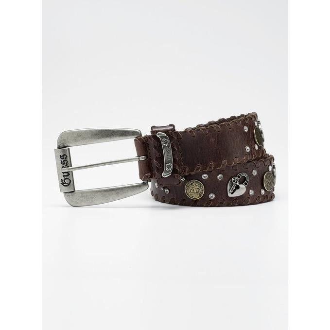 guess ceinture homme cuir marron taille s mod le 910005 achat vente ceinture et boucle. Black Bedroom Furniture Sets. Home Design Ideas
