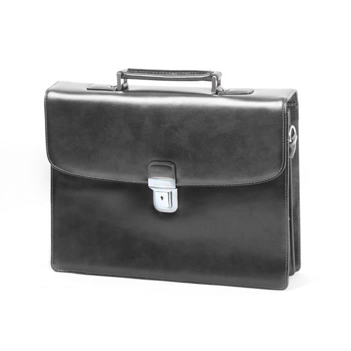 noir serviette katana refente de cuir de vachette k63041 noir achat vente attach case. Black Bedroom Furniture Sets. Home Design Ideas