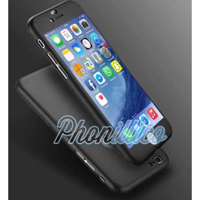 coque full noir film verre trempe iphone 5 5s phonillico achat coque bumper pas cher avis. Black Bedroom Furniture Sets. Home Design Ideas