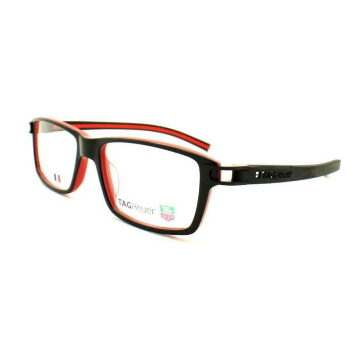 lunettes de vue pour homme tag heuer th 7601 00 noir achat vente lunettes de vue homme. Black Bedroom Furniture Sets. Home Design Ideas