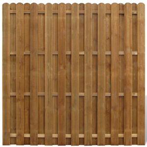 CLÔTURE - BARRIÈRE P142 Panneau de cloture en bois avec planches inte
