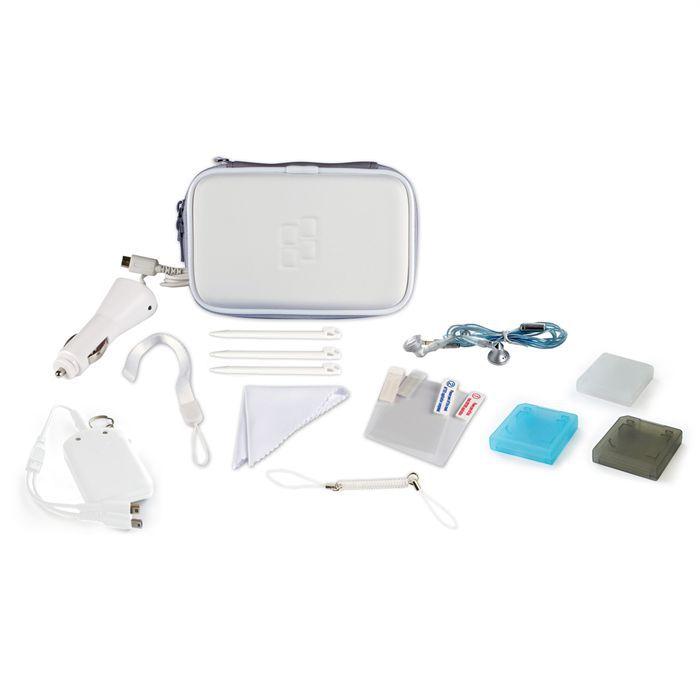 Pack d 39 accessoires blanc dsi ds lite 3ds achat vente for Housse 3ds xl reine des neiges