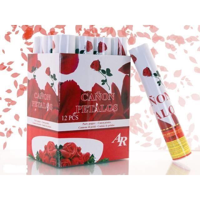 confettis lot de 5 canons confettis 30cm petale de rose - Canon Petale De Rose Mariage