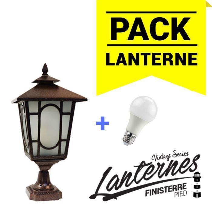 Lanterne sur pied finisterre ampoule led achat vente for Lanterne exterieur sur pied