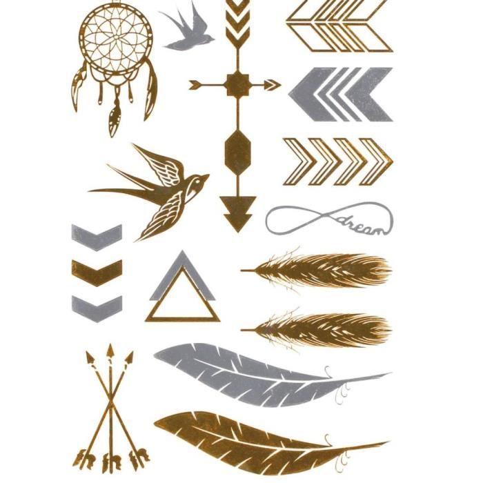 tatouages eph m res couleur m tal attrape reve plumes. Black Bedroom Furniture Sets. Home Design Ideas