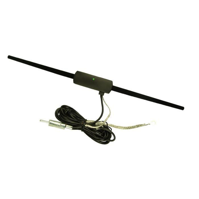 antenne amplifi e de vitre interne fm pour voiture 12 voltspour voiture camion camper voir. Black Bedroom Furniture Sets. Home Design Ideas