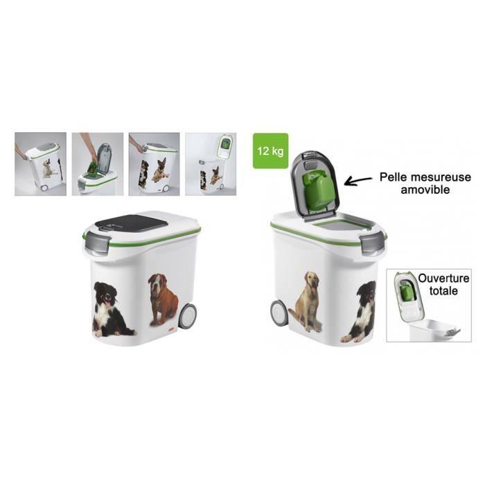 conteneur croquettes 12kg chiens achat vente croquette conteneur croquettes 12kg cdiscount. Black Bedroom Furniture Sets. Home Design Ideas