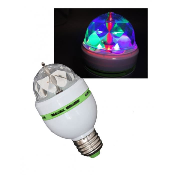 Lampe a led effet disco astro micro rvb ibiza boule a for Lampe boule a facette
