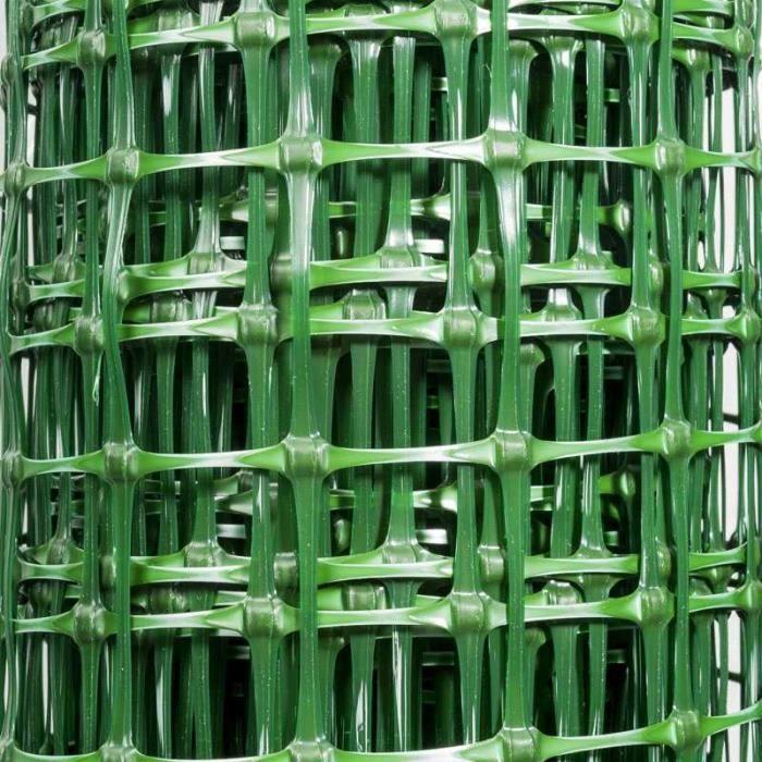 Grillage plastique vert taille 1 5 x 10 m achat vente - Filet plastique jardin ...