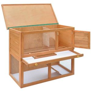 cage lapin en bois achat vente cage lapin en bois pas cher cdiscount. Black Bedroom Furniture Sets. Home Design Ideas