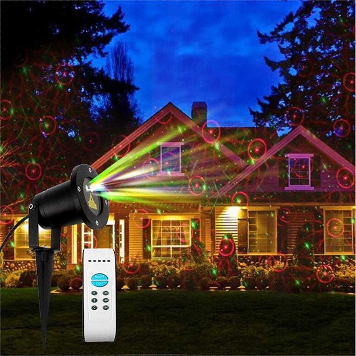 Laser lumi re imperm able l 39 eau rouge et vert romantique for Eclairage laser exterieur