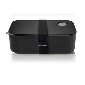YOKO DESIGN Lunch Box avec séparation réglable et amovible 1 L noir