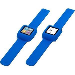 COQUE MP3-MP4 Griffin Bracelet montre nano6 Slap bleu
