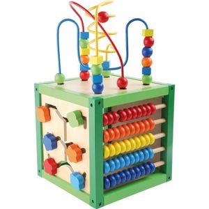 cube d activite en bois achat vente jeux et jouets pas chers. Black Bedroom Furniture Sets. Home Design Ideas