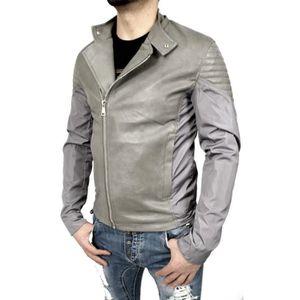 veste cuir homme cintre achat vente veste cuir homme cintre pas cher cdiscount. Black Bedroom Furniture Sets. Home Design Ideas