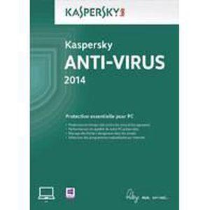 LOGICIEL À TÉLÉCHARGER Kaspersky Anti-Virus 2014 (Mise a Jour) - 1 pos...