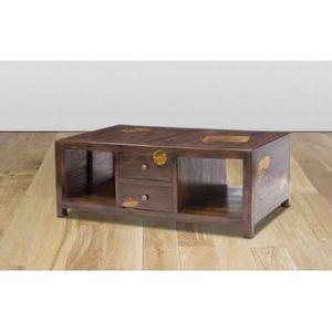 Table basse en bois avec tiroir achat vente table basse en bois avec tiro - Bois manguier qualite ...