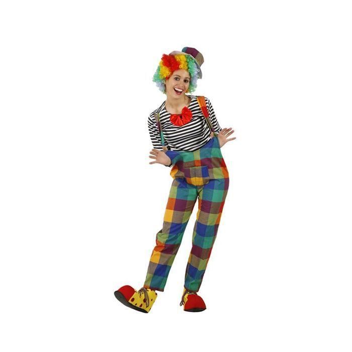 Atosa Déguisement de Femme Clown Carreaux Adulte Livré à l