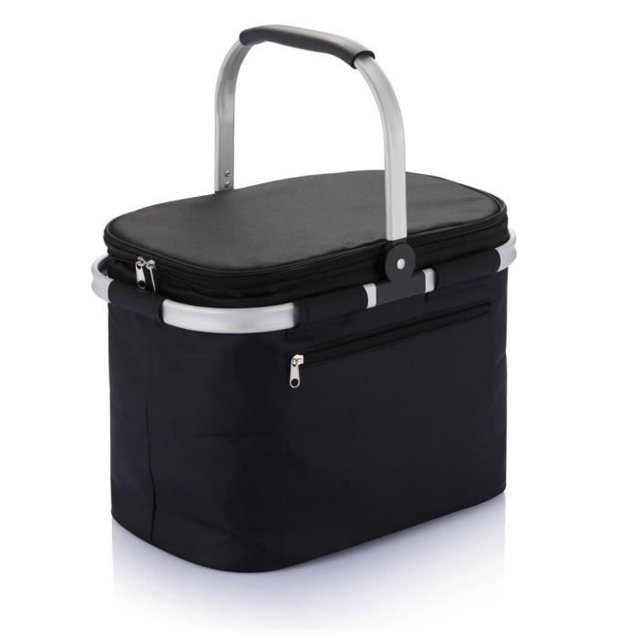 panier pique nique pliable noir achat vente sac isotherme panier pique nique pliable. Black Bedroom Furniture Sets. Home Design Ideas