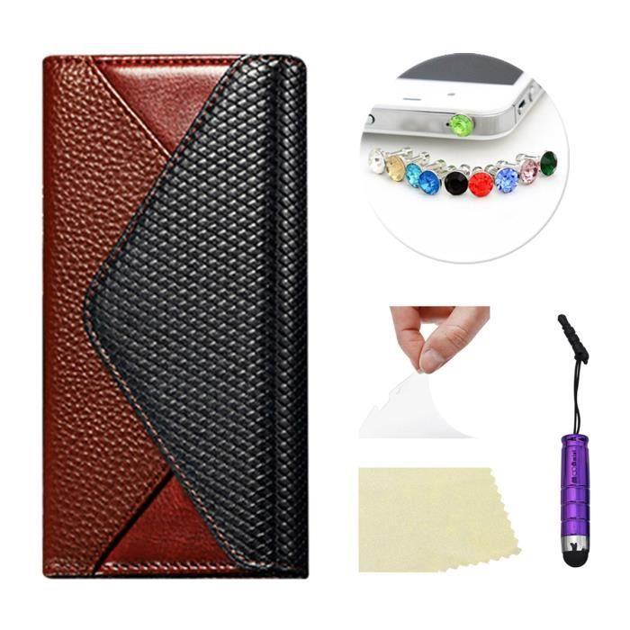 moonmini apple iphone 6 plus 5 5 pouces coque bourse de portefeuille en cuir avec pochette de. Black Bedroom Furniture Sets. Home Design Ideas