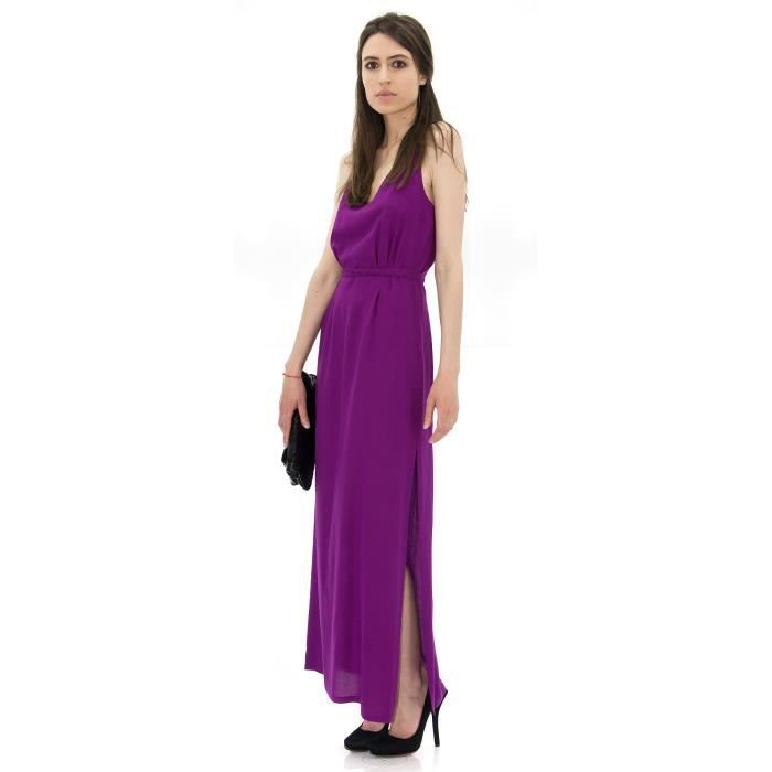 robe longue violette maja violet achat vente robe. Black Bedroom Furniture Sets. Home Design Ideas