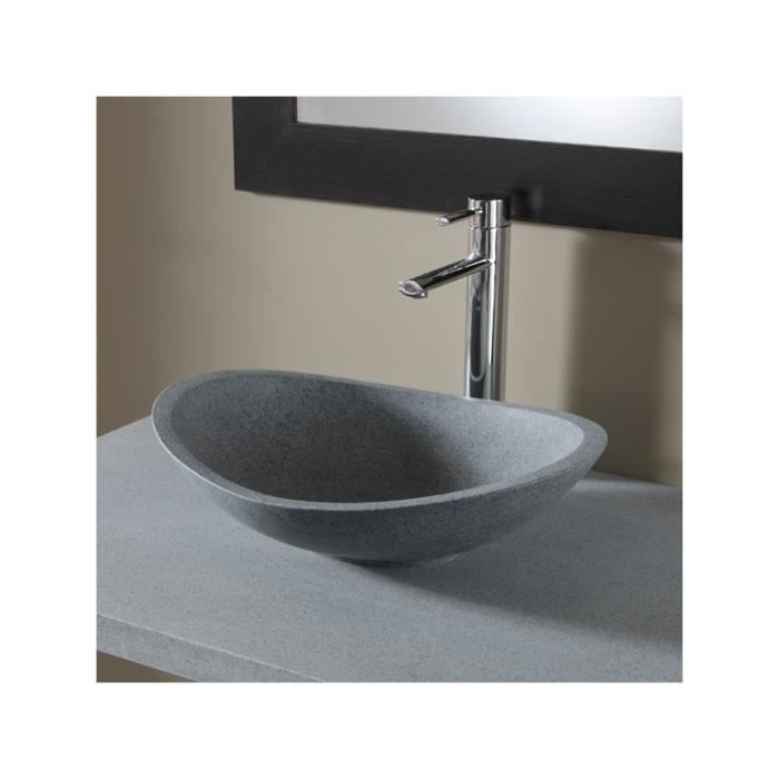 Vasque poser ovale en pierre de qualit achat vente lavabo vasque vasque poser cdiscount - Vasque a poser occasion ...