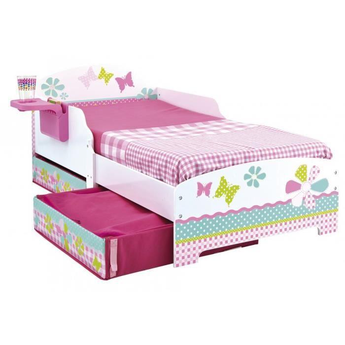 lit enfant fille 70x140 patchwork tiroirs achat vente structure de lit soldes d t cdiscount. Black Bedroom Furniture Sets. Home Design Ideas