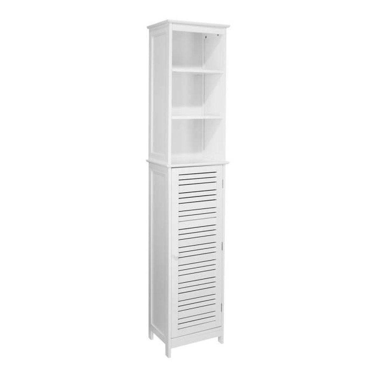 colonne de salle de bain de couleur blanc achat vente colonne armoire sdb colonne de salle. Black Bedroom Furniture Sets. Home Design Ideas