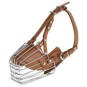 MUSELIÈRE Haute qualité museau de chien en acier en cuir cag