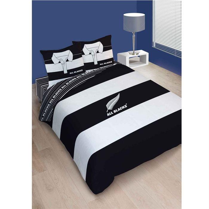 Parure all blacks polo hc3 220x240cm achat vente - Housse de couette blanche et noire ...
