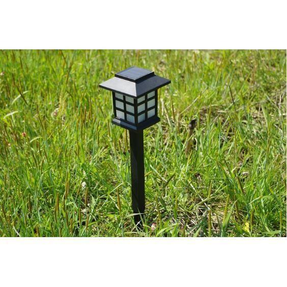6 pack lampe jardin solaire etanche 0 2w plastique abs for Lampe jardin