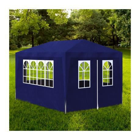 tonnelle de jardin tente de r ception chapiteau bleu 3x4m stylashop achat vente tonnelle. Black Bedroom Furniture Sets. Home Design Ideas