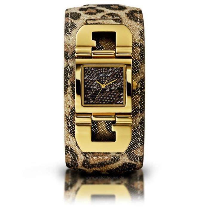 watch fashion line montre pour cuir l opard guess. Black Bedroom Furniture Sets. Home Design Ideas