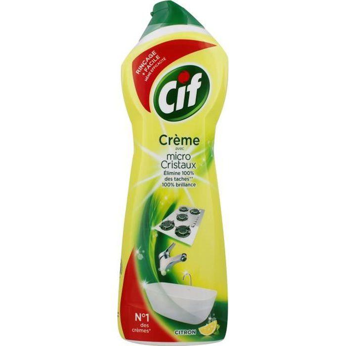 Cif cr me r curer parfum citron 750ml achat vente nettoyage salle de bain cif c r citron - Creme a recurer ...