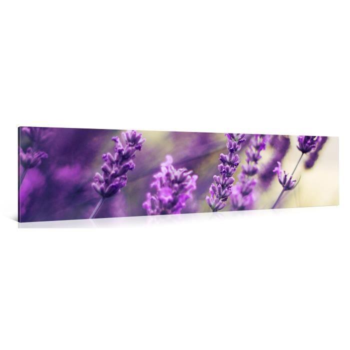 Tableau sur toile lavande 120x30cm achat vente for Tableau impression sur toile