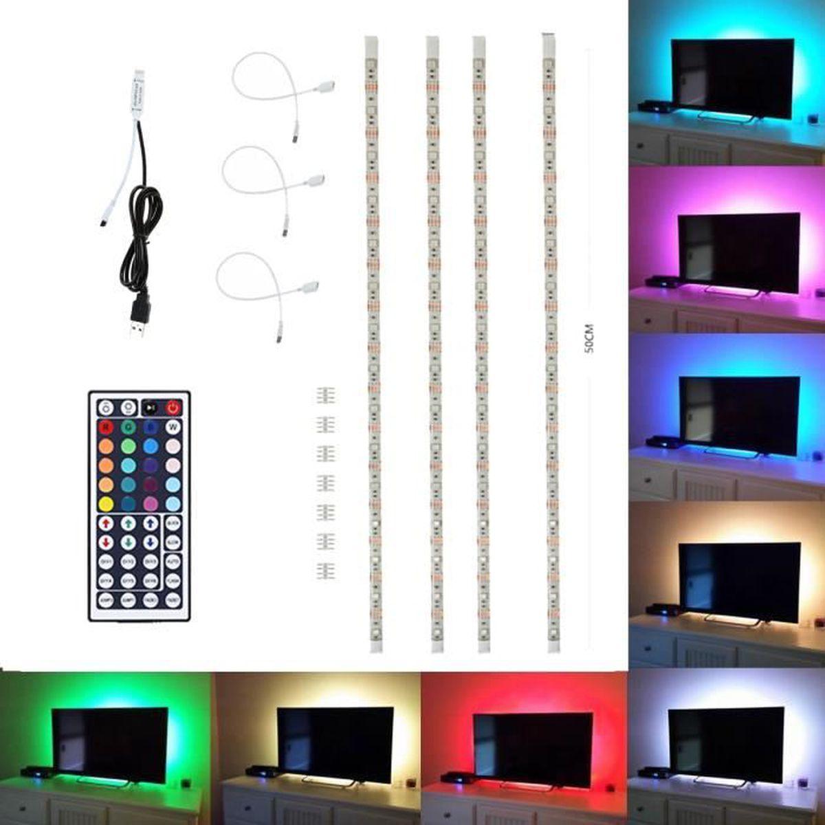 Bande ruban led smd 5050 rgb usb led bandes de lumière pour tv str