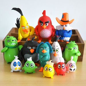 FIGURINE - PERSONNAGE Figurine 13 pièces Angry Birds 4-7 cm