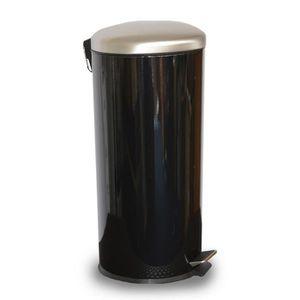 Poubelle de cuisine noire achat vente poubelle de - Poubelle de cuisine a pedale ...